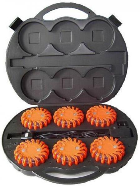 led frei gmbh led blitzer warnleuchte orange mit koffer. Black Bedroom Furniture Sets. Home Design Ideas
