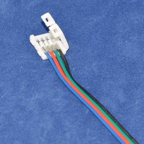 led frei gmbh led band verbinder 10mm 4 polig rgb 10cm. Black Bedroom Furniture Sets. Home Design Ideas